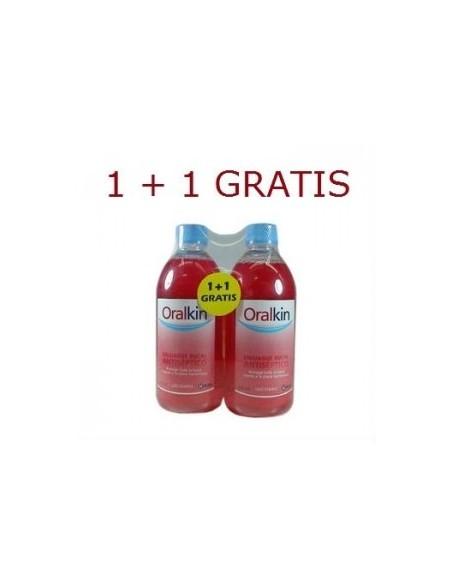 Oralkin Enjuage Bucal Antiseptico 2 X 500ml