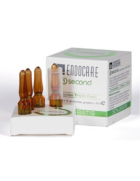 Endocare Second Efecto Flash 4 Ampollas