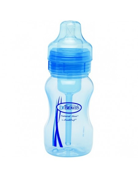 Dr Brown´s Biberon Anticolico Azul Boca Ancha Tetina de Silicona 240 mL