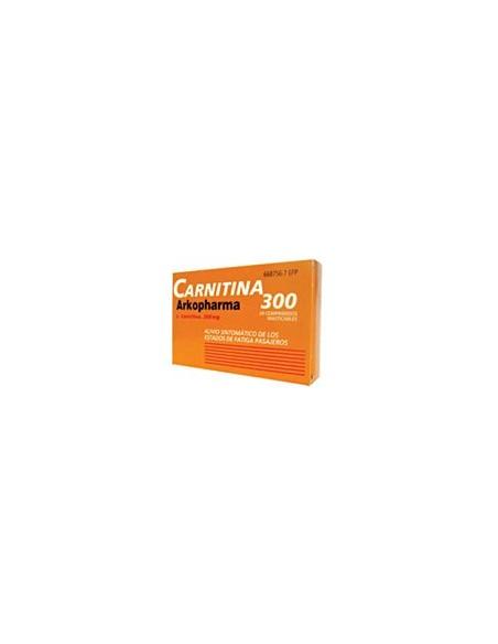 Arkopharma Carnitina 300 mg 24 Comprimidos Masticables