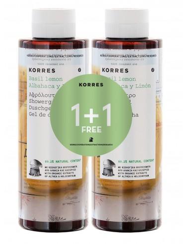 Korres Albahaca y Limón Gel Duplo 250 + 250