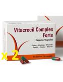 Duplo Vitacrecil Complex Forte 90 + 90 Cápsulas 50% Descuento en la Segunda Unidad