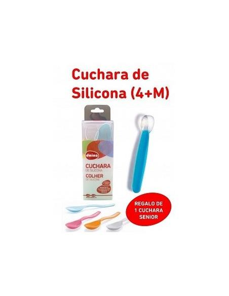 Dnins Cuchara de Silicona +4m + Cuchara Senior 12m DE REGALO