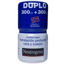 Duplo Neutrogena Comfort Balm Hidratacion Profunda Cara y Cuerpo 300 + 300 mL