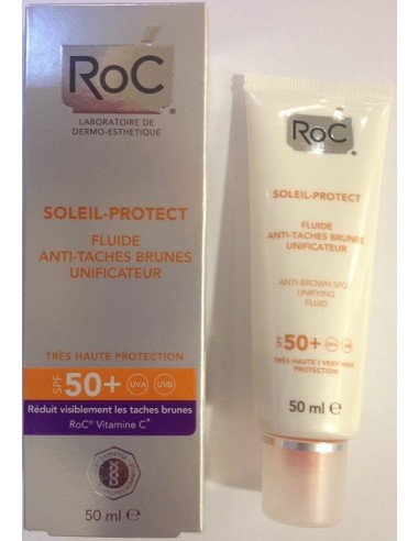Roc Soleil-Protect Fluido Unificante Anti Manchas SPF 50+ 50 mL