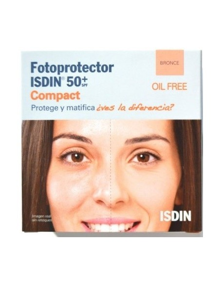 Fotoprotector Isdin Compacto Oil Free Bronce SPF 50 10g