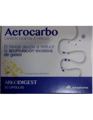 Arkodigest Aerocarbo 30 Capsulas