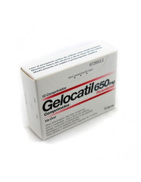 Gelocatil 650mg 12 Comprimidos