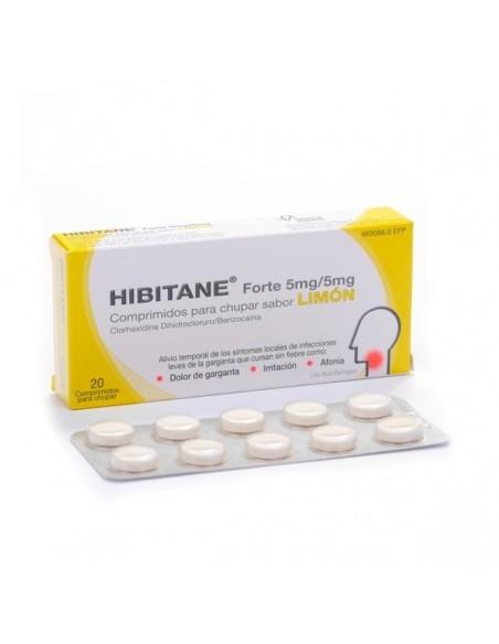 Hibitane Forte Sabor Limon 20 Comprimidos