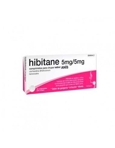 Hibitane Anis 5/5mg  20 Comprimidos