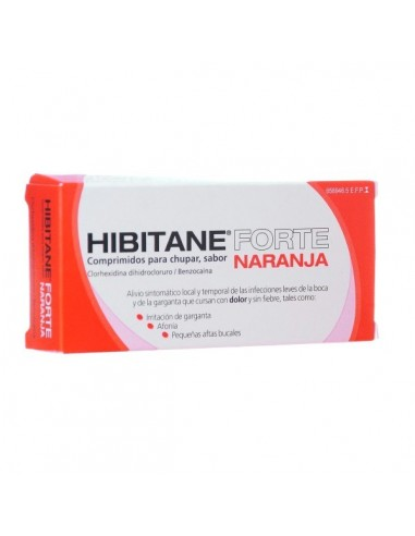 Hibitane Forte Sabor Naranja 20 Comprimidos