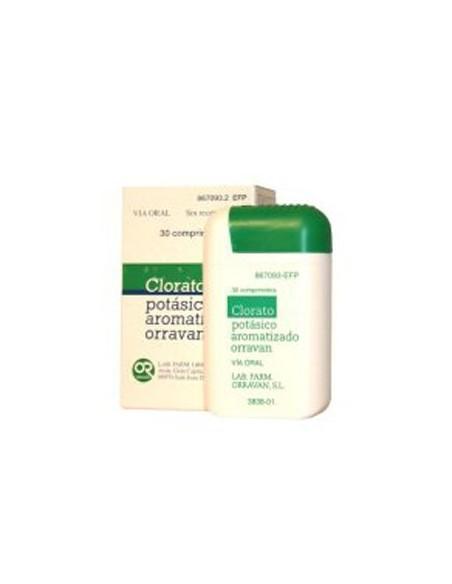 Orravan Clorato Potasico Aromatizado 30 Comprimidos