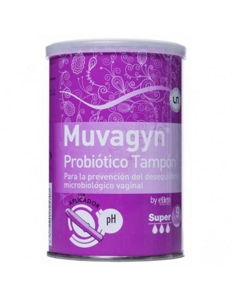 Muvagyn Probiotico Tampon Super con Aplicador 9 Unidades