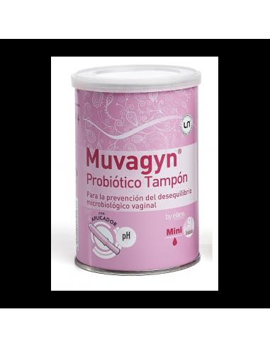 Muvagyn Probiotico Tampon Mini Con Aplicador 9 Unidades