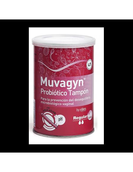 Muvagyn Probiotico Tampon  Regular Con Aplicador  9 Unidades
