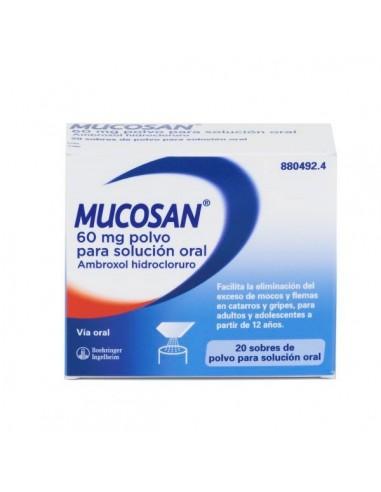 Mucosan Granulado 60 mg 20 Sobres