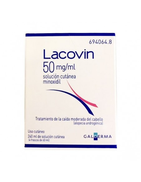 Lacovin 50 mg/ml Sol Cutanea 4 X 60 ml