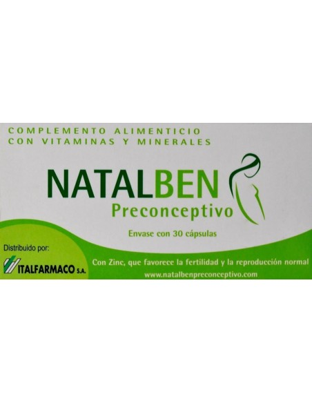 Natalben Preconceptivo 30 Capsulas