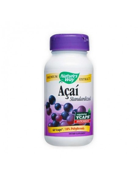 Acai Natures Way 60 Capsulas