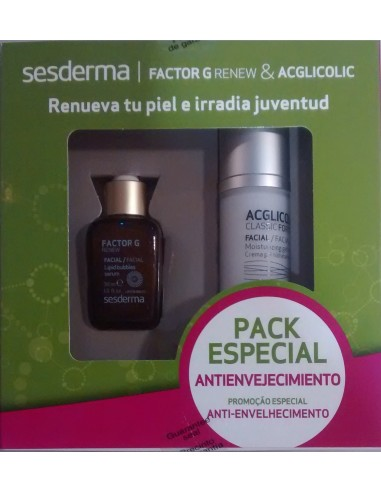 Sesderma Factor G  Renew 30 mL + Acglicolic Classic Forte Crema Gel 50 mL