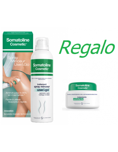 Somatoline Use & Go Spray Reductor 200 mL + Regalo Exfoliante Pre-reductor 300g