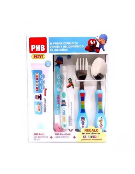 Phb Petit Pocoyo Gel Dental 75 mL + Cepillo + Cubiertos