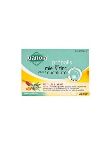 Juanola Propolis Miel y Zinc 24 Pastillas Blandas