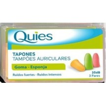 Tapon de Goma Quies de Colores 3 pares