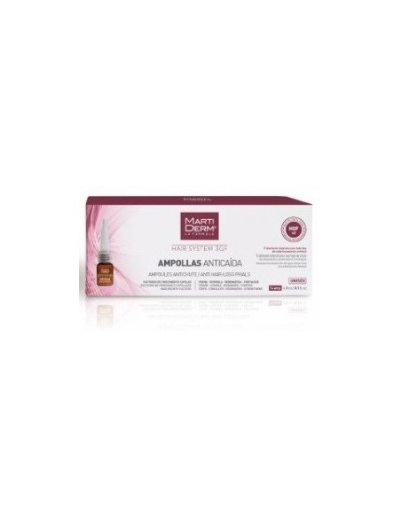 Martiderm Hair System 3GF Ampollas Anticaida 14 Unidades