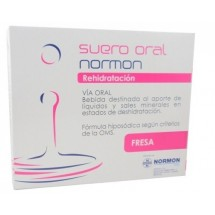Suero Oral Normon Fresa 2 bricks x 250 mL