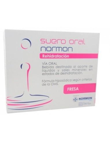 Suero Oral Normon Fresa 250 mL