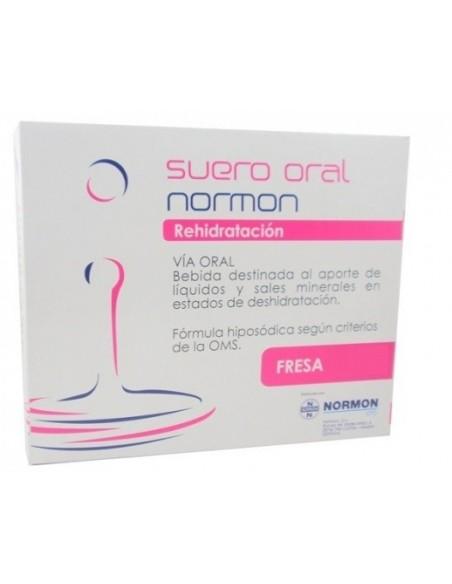 Suero Oral Normon Fresa 2 bricks x 250 mL