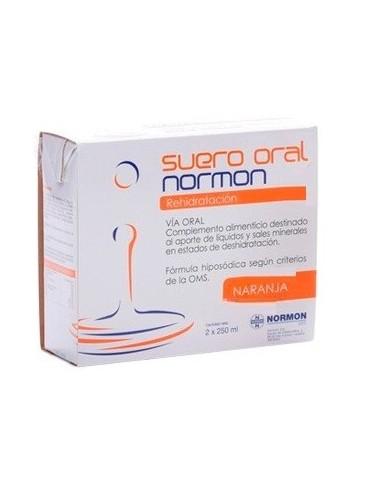 Suero Oral Normon Naranja 2 Bricks x 250 mL