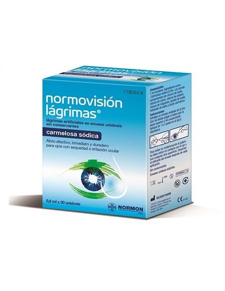 Normovision Lagrima Artificial 0.8 ml x 30 Monodosis