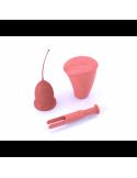 Copa Menstrual Talla M 2 Unidades + Esterilizador + Aplicador Enna Cycle