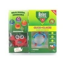 Relec Pulsera Antimosquitos Click-Clack Cangrejo