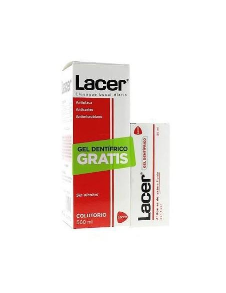 Lacer Colutorio 500ml + REGALO* Lacer Gel 35 mL
