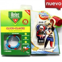 Relec Pulsera Antimosquitos Click Clack Reloj Harley Quinn
