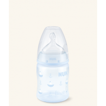 Nuk Biberon Azul First Choice Tetina Silicona Orificio Medio 0-6 m 150 ml