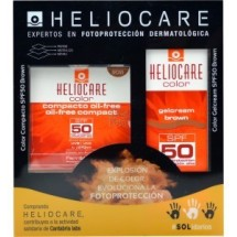 *Heliocare Gel Crema Color Brown Spf 50 50ml + Compacto Brown Oil-Free