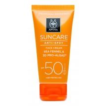 Apivita Crema Solar Spf 50 Facial Antimanchas 50 Ml