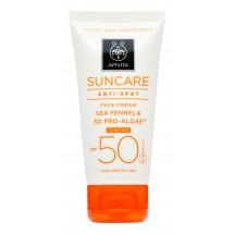 Apivita Crema Solar Facial Spf 50 Antimanchas Color 50 Ml