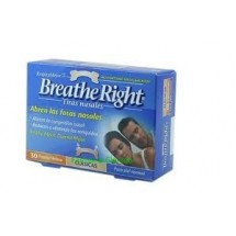 Tiras Nasales Breathe Right Talla Mediana/ Grande 30 Unidades