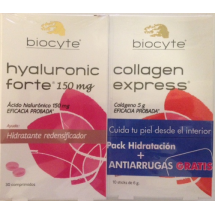 Biocyte Hyaluronic Forte 150 Mg 30 Comprimidos + Gratis Collagen Express 10 Sticks 6 Gramos