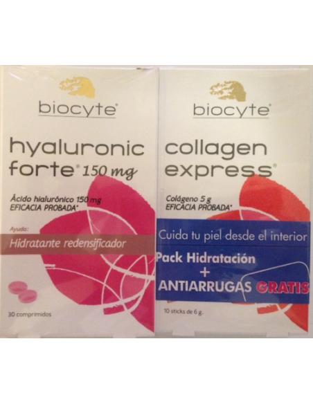 Biocyte Hyaluronic Forte 150 Mg 30 Comprimidos + Gratis Collagen Express 10 Sticks 6 Gramos