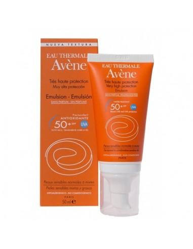 Avene Emulsion Sin Perfume FPS 50+ 50mL