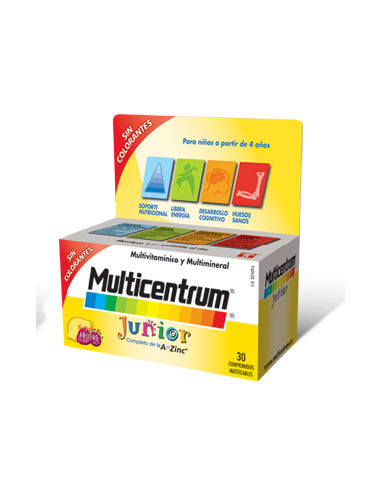 Multicentrum Junior 30 comprimidos masticables sabor a frutas