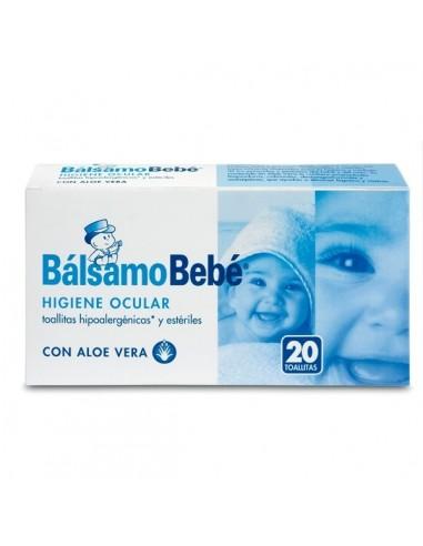 Bálsamo Bebé Toallitas Higiene Ocular 20 Unidades