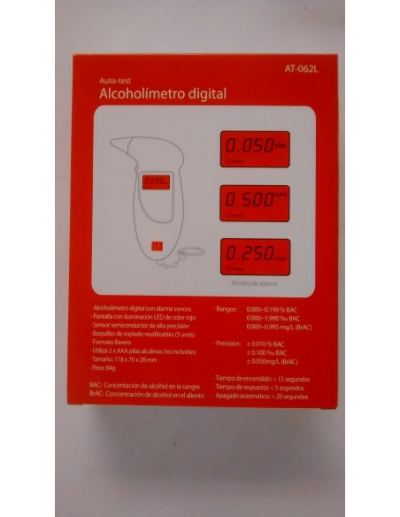 Alcoholimetro Digital