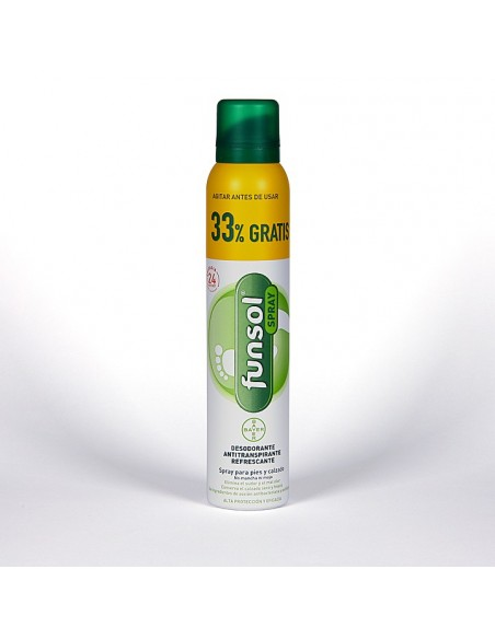 Funsol Desodorante Pies Spray 150mL + 50 mL GRATIS*